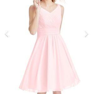 Azazie Blushing Pink Chiffon Grace Dress